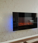Square thumb electric fire install