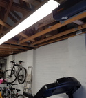 Square thumb led strip light install in garage