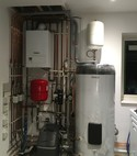 Square thumb vaillant boiler with     3