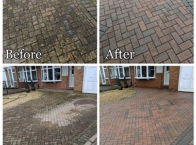 Primary thumb block paving cleaning and restoration