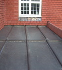 Square thumb lead and tiled roof