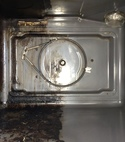 Square thumb clean dirty oven