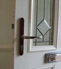 Square thumb multi point  lock in door