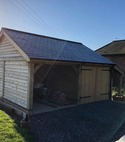 Square thumb garage car port west meon feb 2020