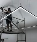 Square thumb cuffley light