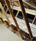 Square thumb loft shelving