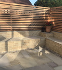 Square thumb patio construction in oxted  surrey  1