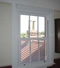 Square thumb sash window internal