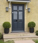 Square thumb timber frenchay door in anthracite cambridge
