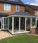Square thumb solid roof conservatory