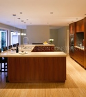 Square thumb open plan kitchen extension with design kitchen.