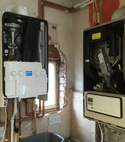 Square thumb ideal logic boiler install 9