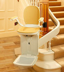 Square thumb acorn 180 curved stairlift