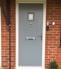 Square thumb french grey door
