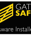 Square thumb gate safe logo
