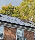 Square thumb shiny solar panels