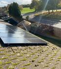 Square thumb solar panel maintainance