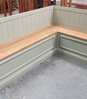 Square thumb bench bespoke furniture finishing made colour lockdown ideas