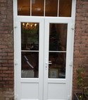 Square thumb white french door external view georgian bars toplight arched trim
