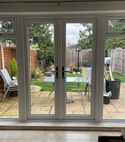 Square thumb white french door internal view full glass side panels