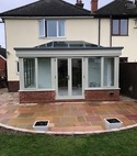 Square thumb orangery to provide a stunning family room