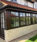 Square thumb hardwood porch