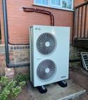 Square thumb air source heat pump