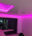 Square thumb apex doma   installtion of built in tv screen  audio and lighting system in wilmslow