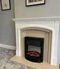 Square thumb electric fire
