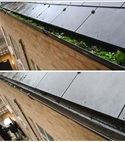 Square thumb gutter clean before and after