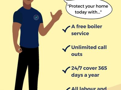 Primary thumb free boiler service poster
