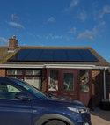 Square thumb solar panel installation 001