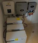 Square thumb solar battery installation 008