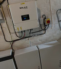 Square thumb solar battery installation 010