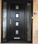 Square thumb competition door