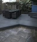Square thumb court yard decking