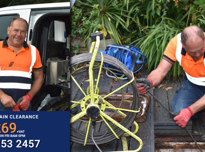 Primary thumb asl limited blocked drain expert daren clearing drains throughout surrey