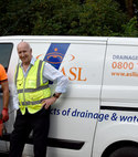 Square thumb our gerry and darren attending a new blocked drain and inspection job in bracknell