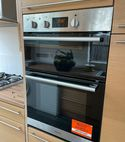Square thumb oven install