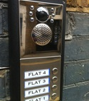 Square thumb videx video intercom system door station islington by alexandra locksmiths